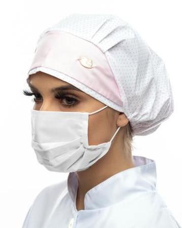 Imagem de kit com 10 Máscaras  Branca de proteção em  Tecido  de Algodão  LAVÁVEL Unisex