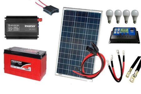 Imagem de Kit Gerador de Energia Solar Off Grid 100Wp
