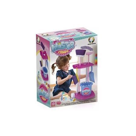 Imagem de Kit Limpeza Infantil Com Vassoura Rodo Pa Brinca Aprendendo