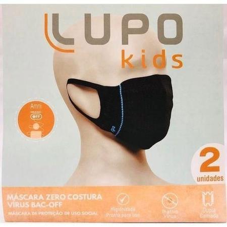 Imagem de Kit Mascara c/ 2 mascaras Infantil Lupo 7 a 12 anos