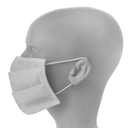 Imagem de Kit Máscara Tecido com TNT Reutilizável Lavável 10 Unidades Branca
