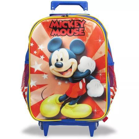 Imagem de Kit Mochila Infantil Mickey Tam G Rodinhas