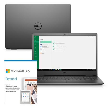 "Imagem de Kit Notebook Dell Inspiron i3501-M10PF 15.6"" HD 11ª Geração Intel Pentium Gold 4GB 128GB SSD Windows 10 Microsoft 365"