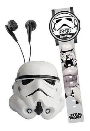 Imagem de Kit Star Wars Relógio E Rádio Fm Storm Trooper Candide