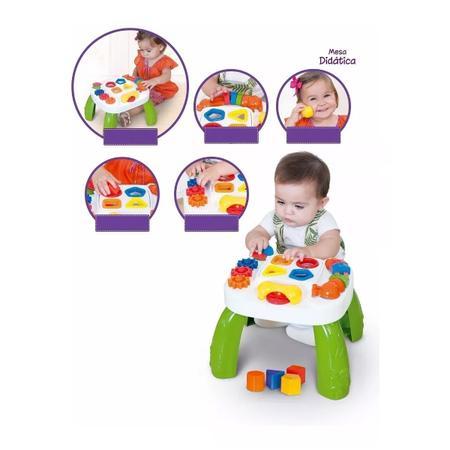 Imagem de Kit Tapete Infantil 180x115 Térmico + Mesinha Educativa Bebê