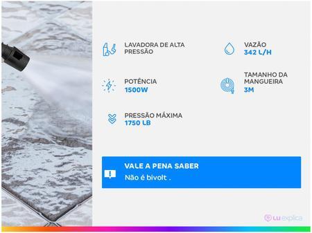Imagem de Lavadora de Alta Pressão Wap Ousada Black 2200