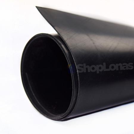 Imagem de Lençol de Borracha 1mm Piso Manta Proteção Preto Liso 1x2m