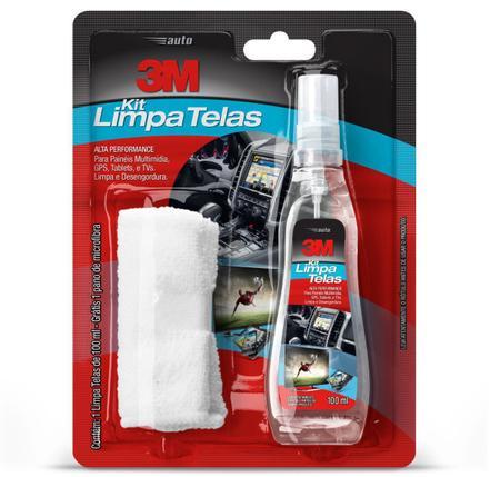 Imagem de Limpador Alta Performance Kit limpa Telas 100ml com Flanela 3M
