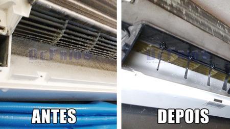 Imagem de Limpeza e higienização de ar condicionado tipo Split