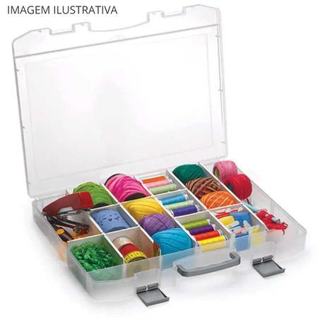 Imagem de Maleta organizadora divisórias móveis 29,6x38,7x5cm Incolor