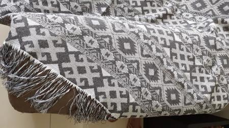 Imagem de Manta Para Sofa Com Franja 3 lugares Persa