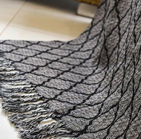 Imagem de Manta Para Sofa Decorativo Com Franja 3 lugares
