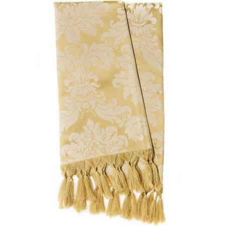 Imagem de Manta para Sofá Jacquard Tradicional Dourado 1,80m x 1,40m