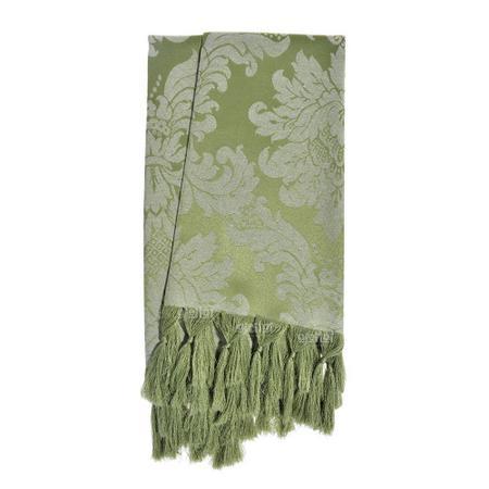Imagem de Manta para Sofá Jacquard Tradicional Verde Pistache 1,80m x 1,40m