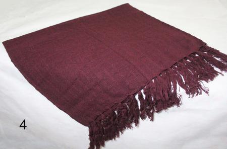 Imagem de manta para sofá vinho xale protetor sofa artesanal em algodão Acessórios Teodoro