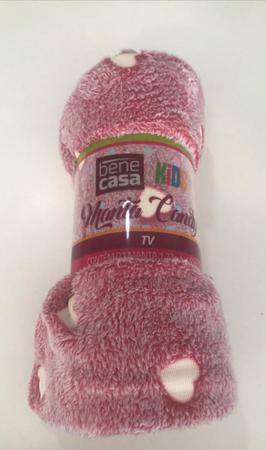 Imagem de Manta TV Microfibra estampada Candy - Hearts 1,27mx1,52m