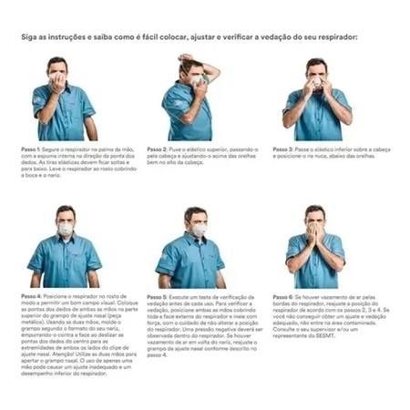 Imagem de Mascara 3M pff2 N95 8801 Respirador Contra Poeiras, Bactérias e Vírus