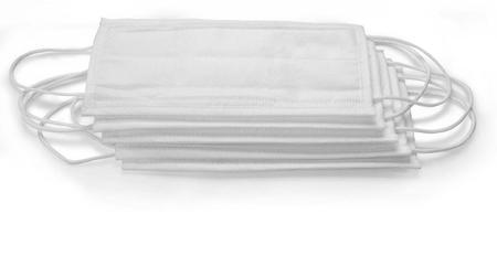 Imagem de Máscara Branca Tnt 3 Camadas C/ Elástico Clip Nasal 50und