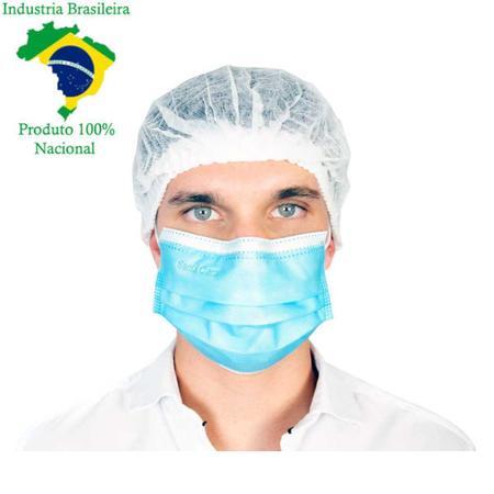 Imagem de Máscara Cirúrgica Descartável TNT Tripla com Elástico Clipe Nasal e Anvisa 25 Un - Santa Clara