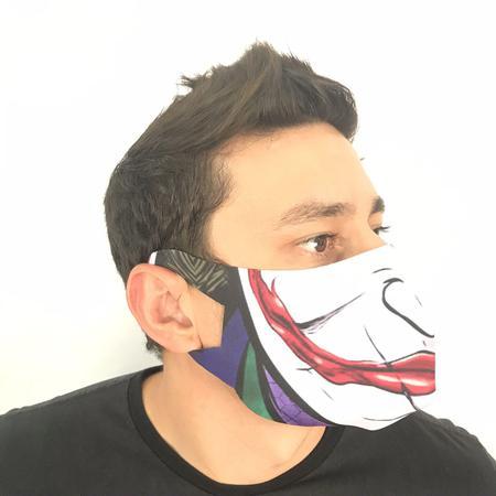 Imagem de Mascara de Algodão Estampada 3D Lavável e Reutilizável