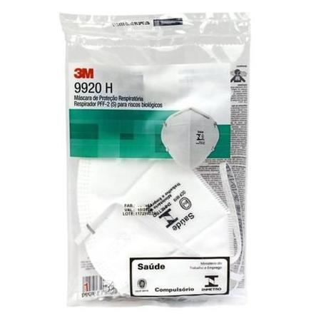 Imagem de Mascara de Proteção Respiratória - Respirador PFF-2 9920H C/5 3M