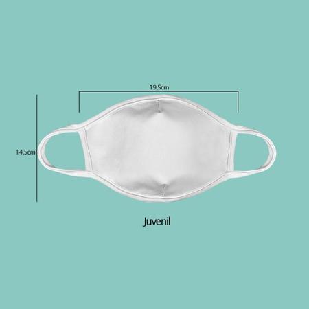 Imagem de Mascara de tecido lavavel estampada juvenil  kit 3 unid.  cj3.06