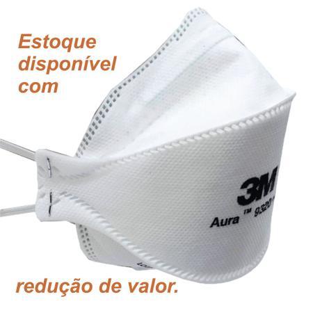 Imagem de Máscara descartáveis 3M Aura 9320+BR Branca PFF2 S Equivalente N95