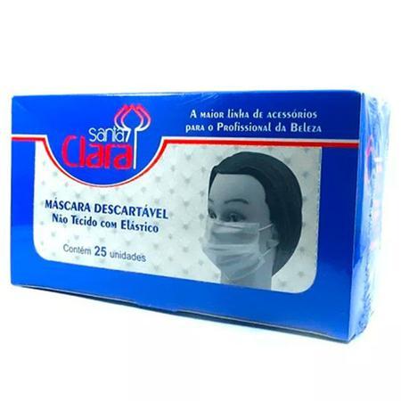 Imagem de Máscara Descartável Com Elástico Santa Clara - 25 Unidades