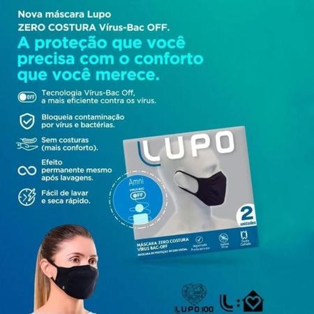 Imagem de Mascara Lupo Antiviral Bac Off Kit Com 4 Adulto Sem Costura