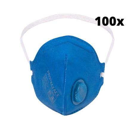 Imagem de Mascara PFF2 com valvula  c/100 unidades