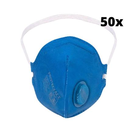 Imagem de Mascara PFF2 com valvula  c/50 unidades