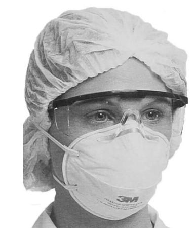 Imagem de Máscara Proteção 3M - PFF2 - com 10 unid. CA 2072 - MODELO 8801