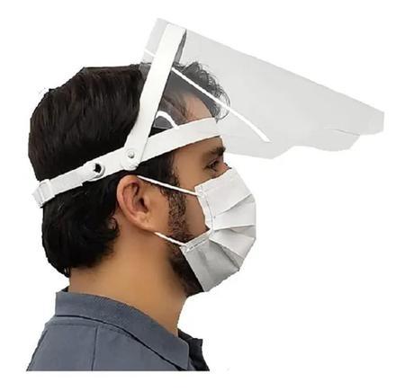 Imagem de Máscara Protetora Facial Face Shield Retrátil