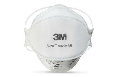 Imagem de Máscara respirador descartável aura 3m - 9320+br - pff-2(s) - 1un