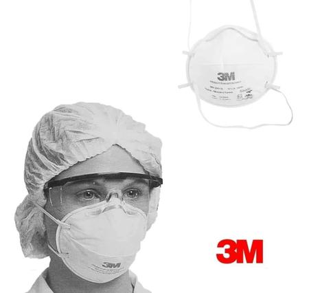Imagem de Máscara Respirador Descartável Concha 3m 8801 - 1 Unidade