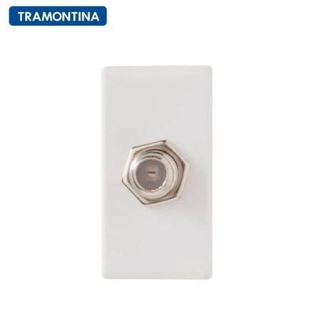 Imagem de Módulo para Tomada TV SAT Tramontina Coaxial Direta 57115/042 Branco