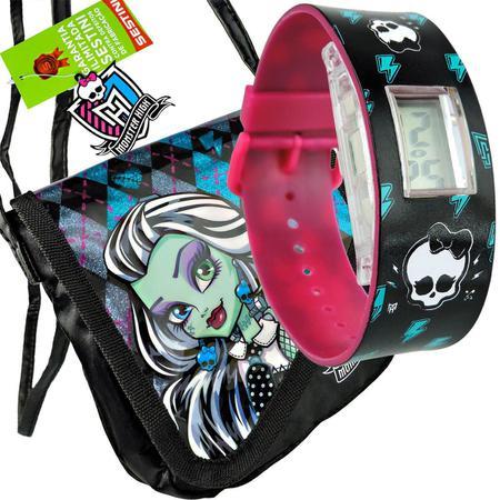 Imagem de Monster High Relógio de Pulso Digital  mais Bolsinha Frankie