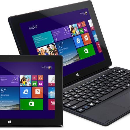 """Imagem de Notebook 2 em 1 Atom Quad Core 1GB 16GB SSD Tela 10"""" Windows 10 Zmax Daten"""