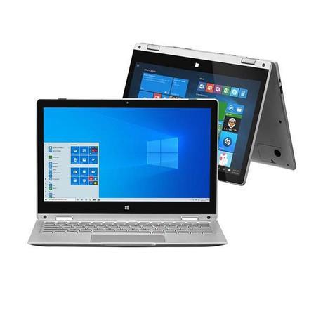 Imagem de Notebook 2 em 1 M11W Prime, com Windows 10 Home, Intel Pentium Quadcore, 4GB RAM, 64GB eMMC, 11,6 Pol., Prata, Multilaser - PC302
