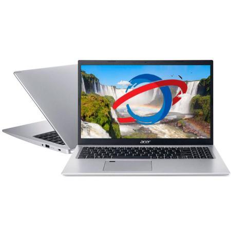 Imagem de Notebook Acer A515 - Tela 15.6 Full HD, Intel i5 1035G1, 8GB, SSD 256GB + HD 1TB, Windows 10