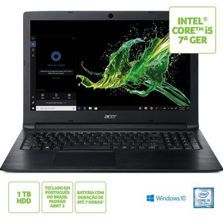 """Imagem de Notebook Acer Aspire 3 A315-53-53AK Intel Core i5 RAM de 4GB HD de 1TB Tela de 15.6"""" HD Windows 10"""