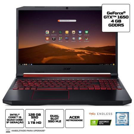 "Imagem de Notebook Gamer Acer 15,6"" AN515-54-58CL i5-9 8GB 1TB+128SSD"