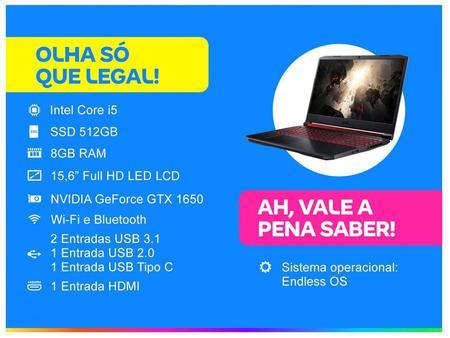Imagem de Notebook Gamer Acer Aspire Nitro 5 AN515-54-574Q