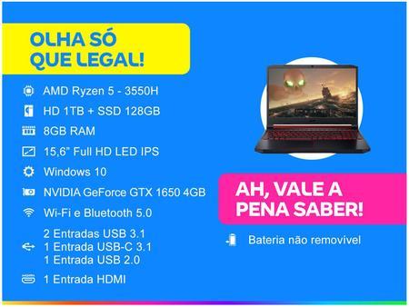 Imagem de Notebook Gamer Acer Nitro 5 AN515-43-R59W AMD R5