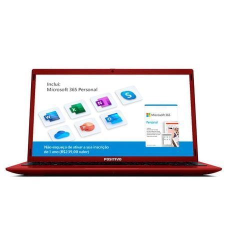 """Imagem de Notebook Intel Atom Quad Core 4GB RAM 128GB eMMC Positivo Motion Q4128C 14.1"""" Windows 10 Vermelho"""