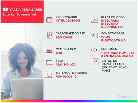 Imagem de Notebook Lenovo IdeaPad3i 82BU0001BR Intel Celeron