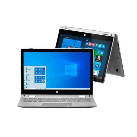 Imagem de Notebook Multilaser 2 em 1 Intel Pentium 4GB RAM 64GB eMMC M11W 11.6 Win10 Cinza