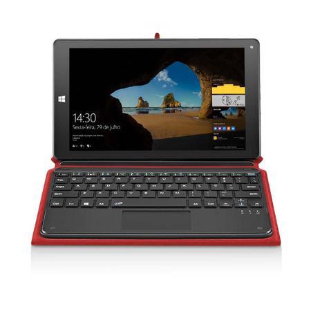 Imagem de Notebook Multilaser M8W Plus 2 em 1 Hibrido Intel Quad Core 2GB 32GB 8.9 Pol. Dual Câmera Windows 10 Vermelho - NB243