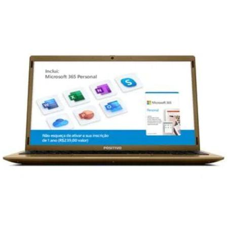 Imagem de Notebook Positivo Motion Q4128C Intel Atom Quad Core Windows 10 Home Dourado