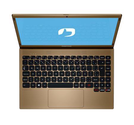 """Imagem de Notebook Positivo Motion Q464C Intel Atom Quad-Core Windows 10 Home 14.1"""" - Dourado"""